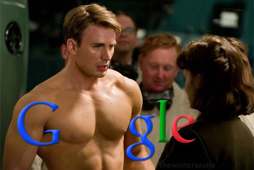 if this picture was the google background, it would be my most visited page....because, Chris Evans.