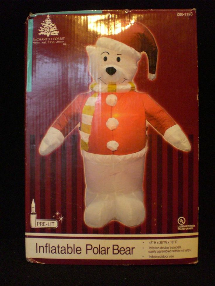 17 best images about christmas polar bear ebay on for Animated polar bear christmas decoration