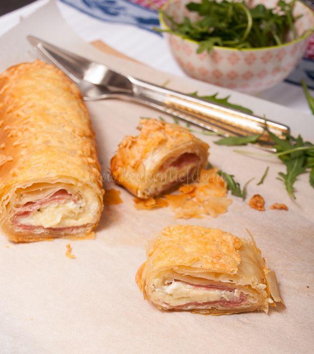 Ham-kaasstrudel - Keuken♥Liefde