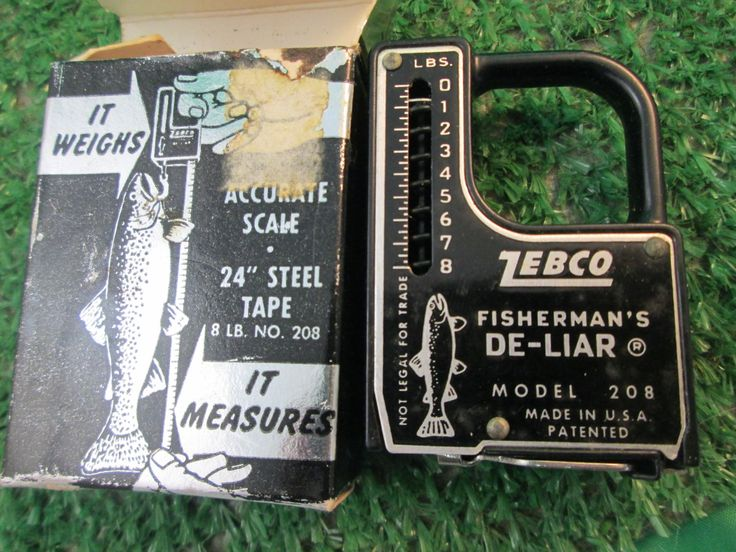 Vintage Zebco Fisherman's De Liar Accurate Scale in box steel tape for the fisherman and the housewife model 208 kitschy retro mid century by kookykitsch on Etsy