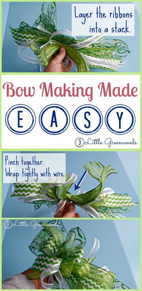 DIY Craft: Super easy bow making tutorial! Follow this for how to make a bow to decorate wreaths and so  much more!