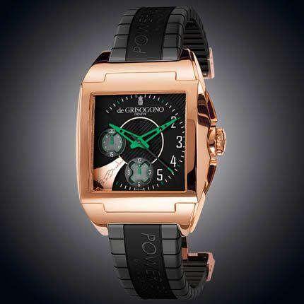 Power Breaker N08 de Grisogono - швейцарские мужские часы наручные, золотые, черные - хронограф