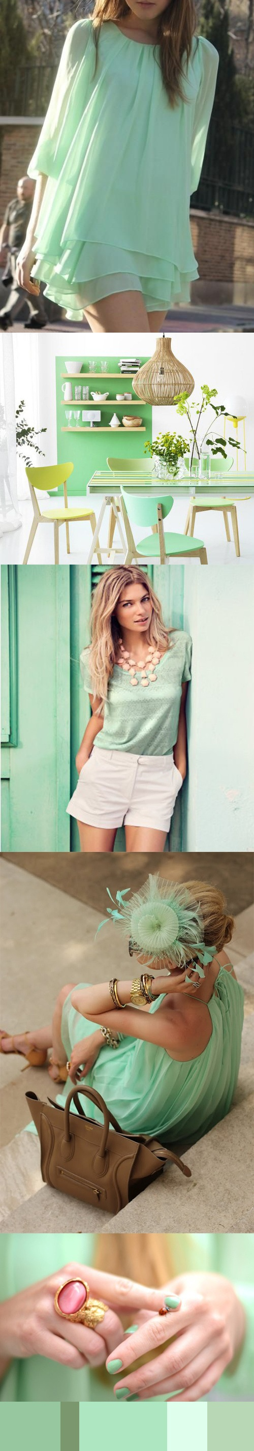 colour inspiration mint green