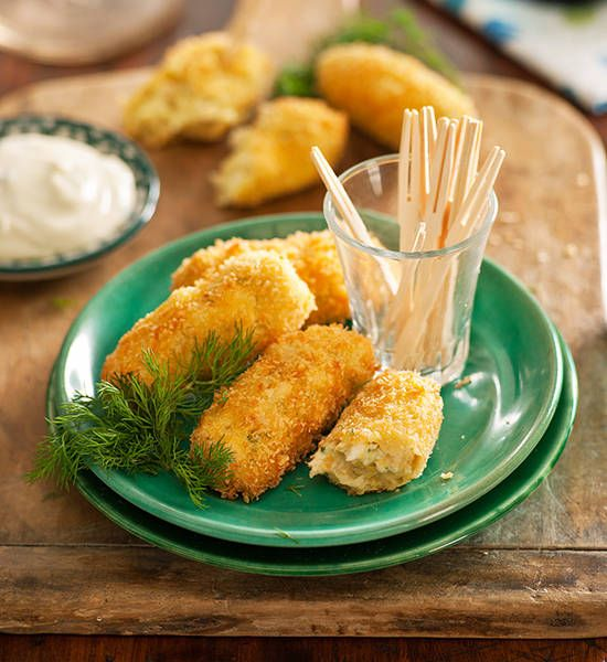 Chicken croquettes: This croquette's crisp crunchy exterior hides a light, fluffy and delicious centre. They're absolutely perfect for entertaining!