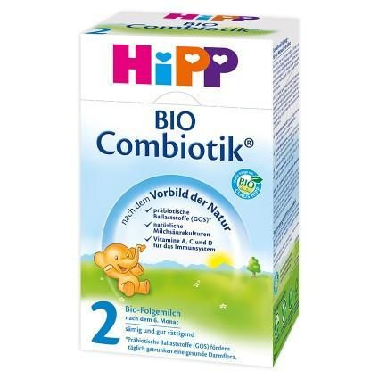 HIPP Organic BIO COMBIOTIC Stage 2 As your baby grows, HiPP Bio Combiotik Stage 2, for infants 6 -10 months of age, will continue to support your baby's stomach. With prebiotic galacto-oligosaccharides or GOS fibers (like those found in breastmilk) and probiotic cultures, Hipp Bio Combiotik 2 comforts and balances your baby's stomach. #breastmilk #babycare #babyfood #infant #babyformula #formula #hipp #glutenfree