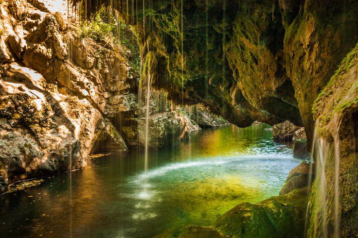 Under the waterfall by Adam Freundlich on 500px