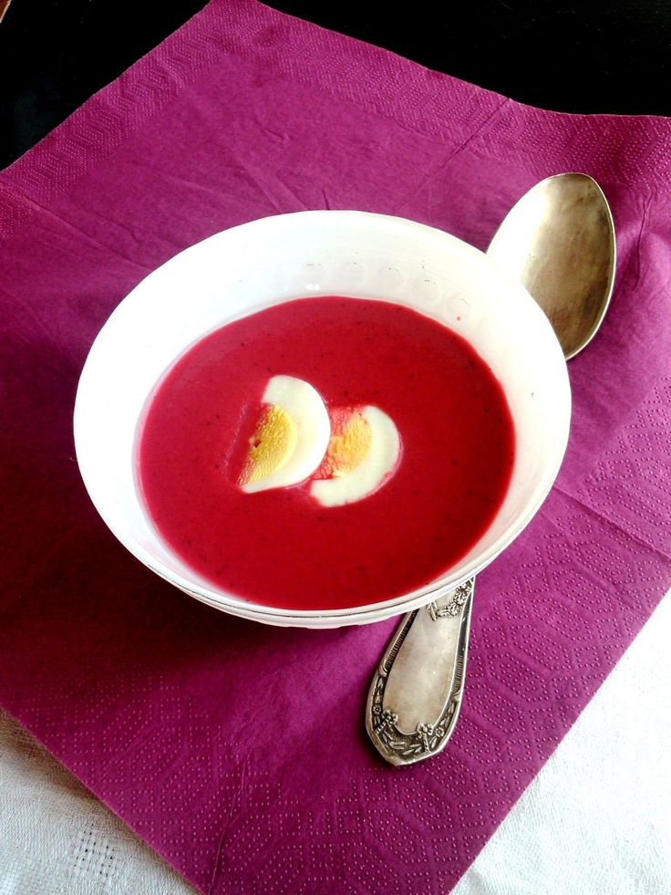 Hideg céklaleves - Cold beetroot soup