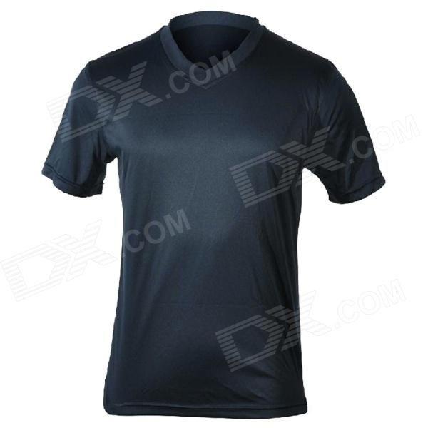 MOUNTAINPEAK Outdoor Quick-dry Bamboo Fiber T-Shirt for Men - Deep Blue #T-shirtForMen