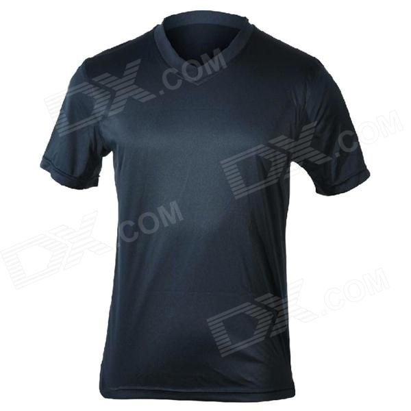 MOUNTAINPEAK Outdoor Quick-dry Bamboo Fiber T-Shirt for Men - Deep Blue #T-shirtForMen