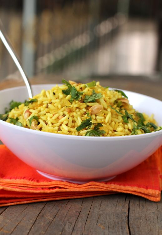 Uggani - South Indian puffed rice snack that is quick to make and delicious