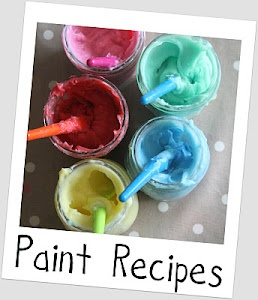 We like this edible finger paint recipe from The Imagination Tree because it uses cornstarch to create a less-watery paint! Pinned by SPD Blogger Network. For more sensory-related pins, see http://pinterest.com/spdbn