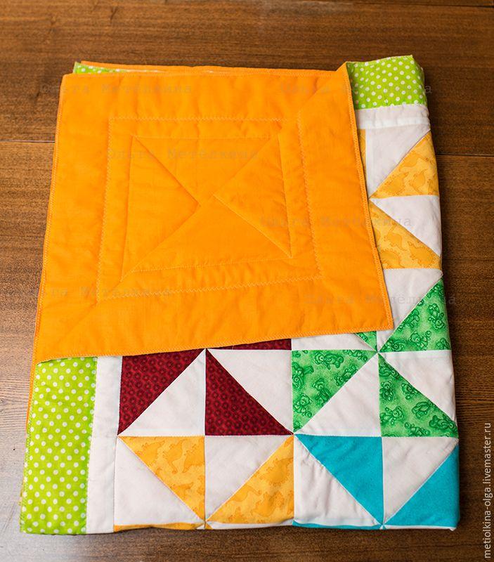 Шьем детское лоскутное одеяло для начинающих. Часть 3. Сборка одеяла - Ярмарка Мастеров - ручная работа, handmade