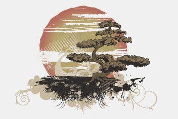 Bonsai Tree Large Sun Psd