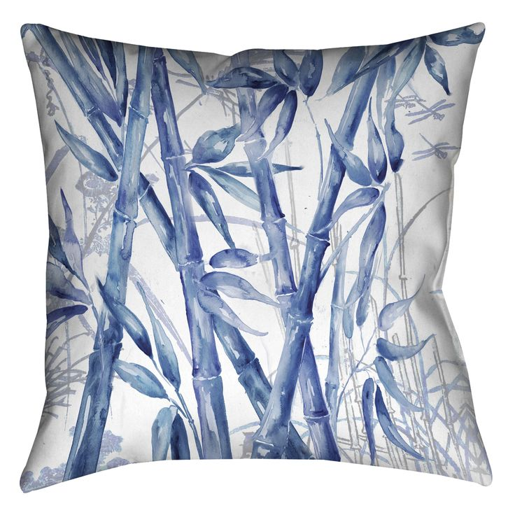 Laural Home Bamboo Decorative 18-inch Pillow