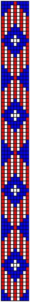 red, white and blue loom pattern