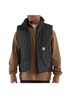 Carhartt Mens Quick Duck Woodward Black Vest | Buy Now at camouflage.ca