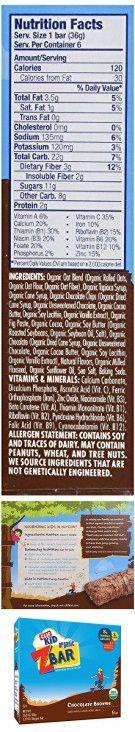 Clif Kid Zbar - Organic - Chocolate Brownie - Case of 12 Boxes - 6 Bars of 1.27 oz each per Box - 72 Bars Total