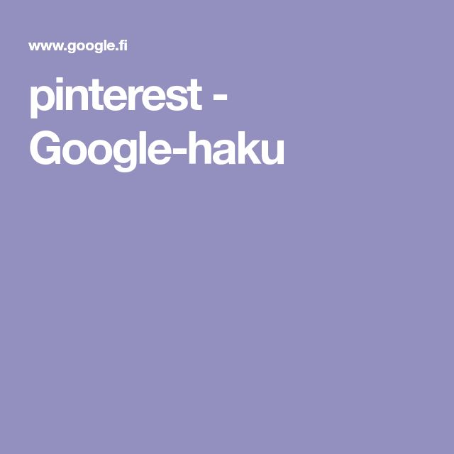 pinterest - Google-haku