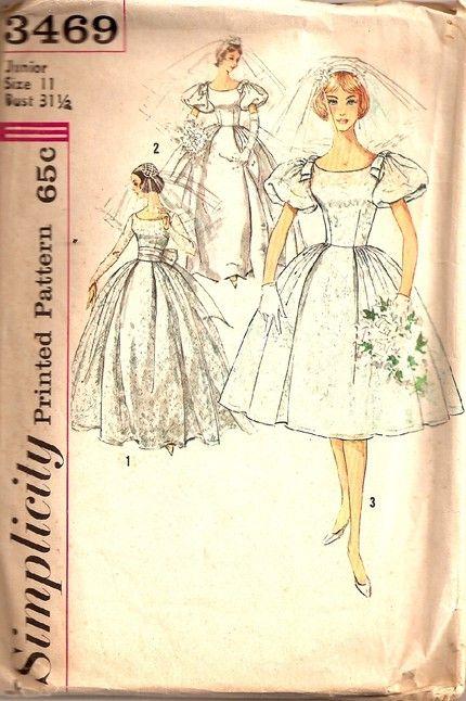 Cute wedding dress pattern