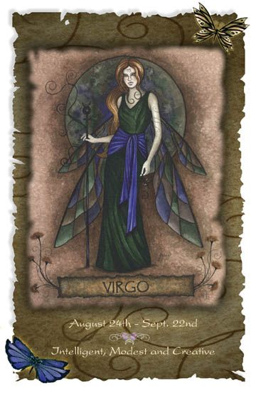 Virgo - intelligent, modest, and creative.  This looks like a very cool ATC.  Might try to imitate this in my art journal.