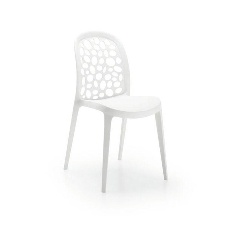 LaForma Stoel 'Messy', kleur wit