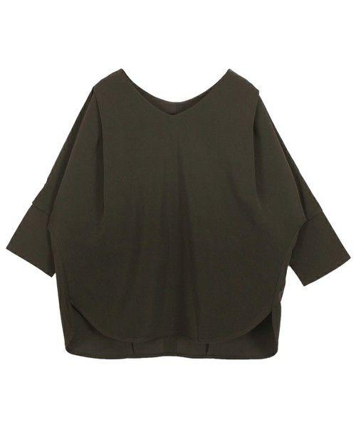 titivate(ティティベイト)の「Vネックドルマンプルオーバー(Tシャツ/カットソー)」|ブラック