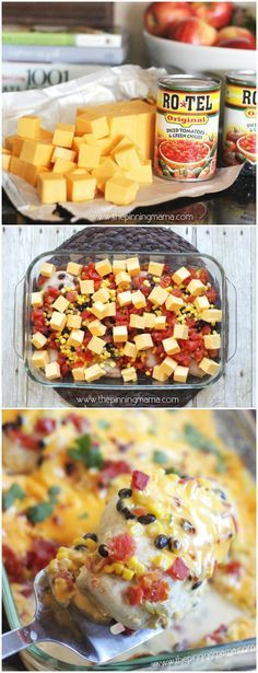 One dish queso chicken bake easy dinner recipe chicken dinner
