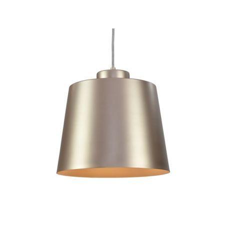 Nowoczesna lampa sufitowa z serii ROMAw modnym kolorze szampańskimsatynowym. Lampa ze względu na swój charakter polecana szczególnie do nowoczesnych wnętrz, loftów czy lokali.