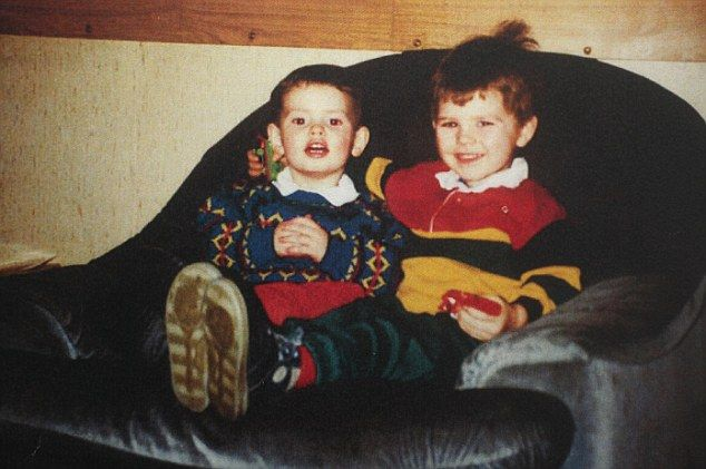 Brotherly love: Andy Murray aged two with his older brother Jamie