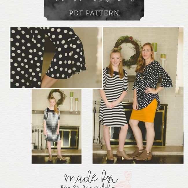 Mama Catherine Top, Tunic & Dress Pattern ⋆ Made for Mermaids