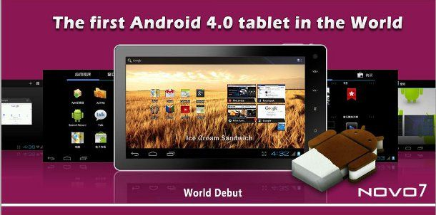 Ainol NOVO7: il primo tablet con Android 4.0 Ice Cream Sandwich a…99 $
