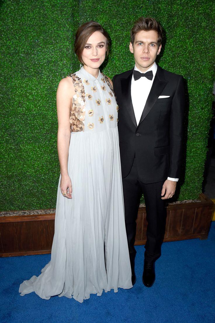 Keira Knightley in Delpozo and James Righton   - HarpersBAZAAR.com
