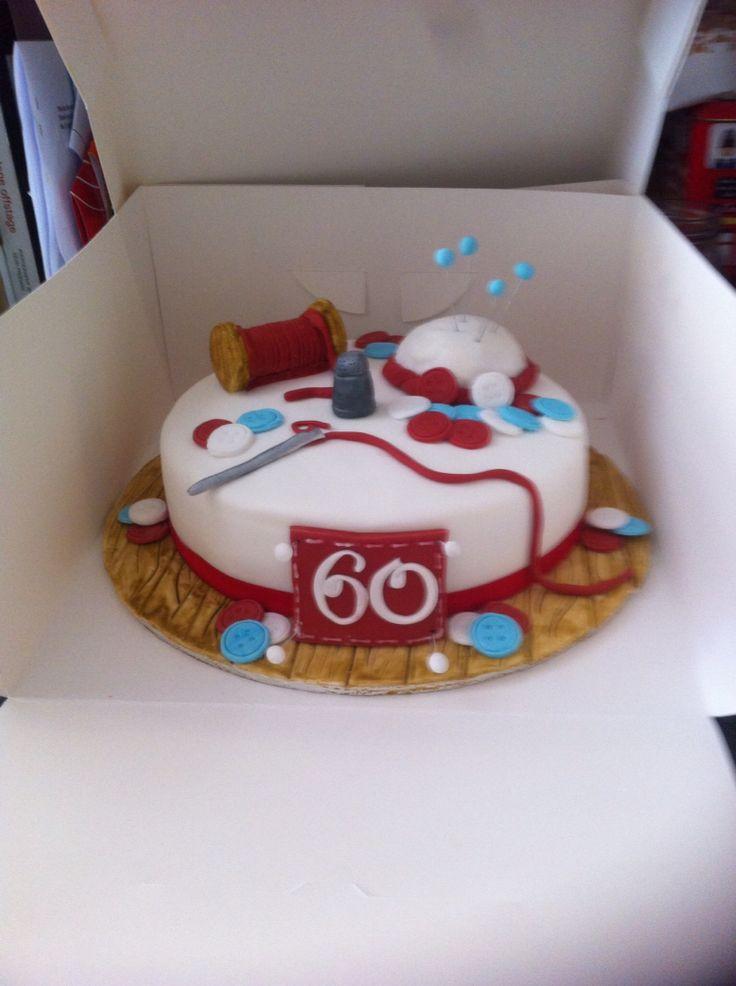 Sewing birthday cake 60th birthday