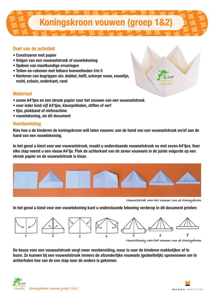 Koningskroon groep 1en2 - Menne Instituut - Met Sprongen Vooruit