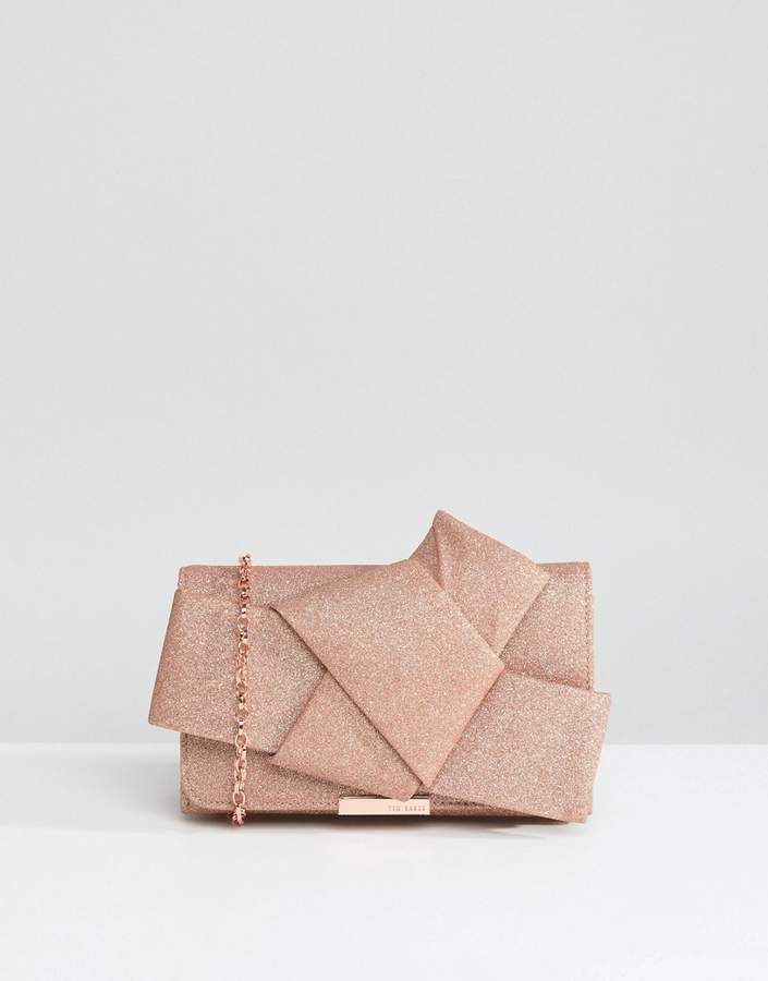 6a5c30e65e521 Ted Baker Glitter Knot Bow Evening Bag | Products | Evening bags ...