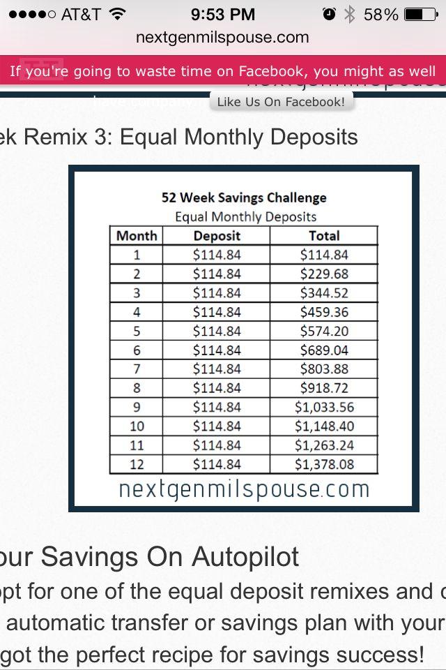 Money challenge