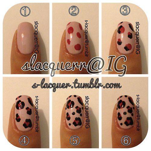 schön  leoparden nägel selber machen 5 besten