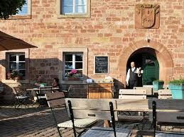 the beergarden at Hotel Kloster Hornbach, Hornbach, Germany
