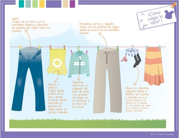 Cómo tender la ropa (2 de 2).  Capítulo 3 - Blancos y prendas