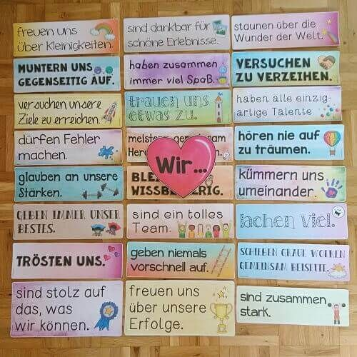 """New design idea for the classroom door After I attached the signs around """"In this room you are …"""" to my classroom door, I also wanted to have a matching decoration for the inner door. So far, I had there hanging the wishing stars, which it also on the blog to …"""