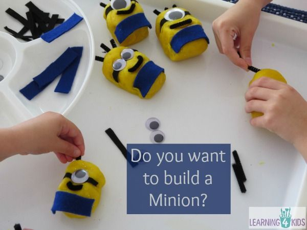 Play dough fun - do you want to build a play dough minion?