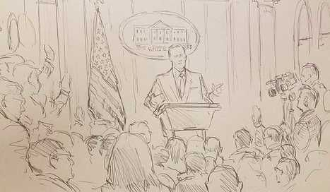 Analysis | CNN sent a courtroom sketch artist to cover a White House press briefing | THE OTHER EYEWITTNESS - news | Scoop.it
