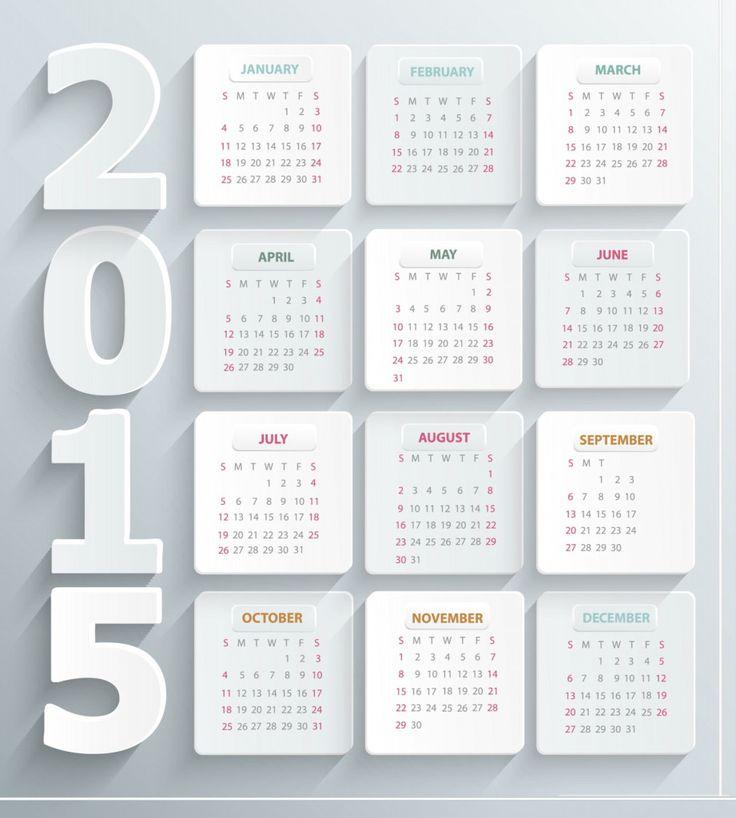 8 best New Year Calendars images on Pinterest | Calendar design ...