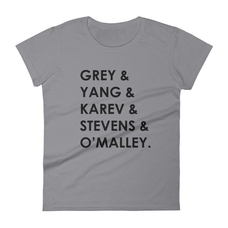 Grey's Anatomy TV Characters Women's Short Sleeve T-shirt