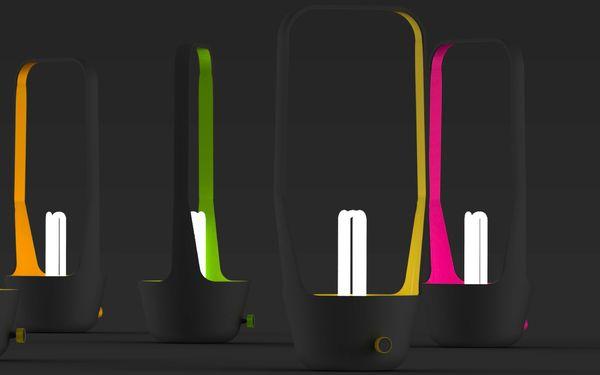 Lampe H by mathieu azema, via Behance