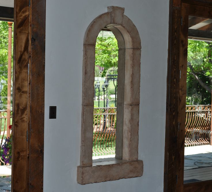 Interior and Exterior Cast Stone Window Trim with Chiseled
