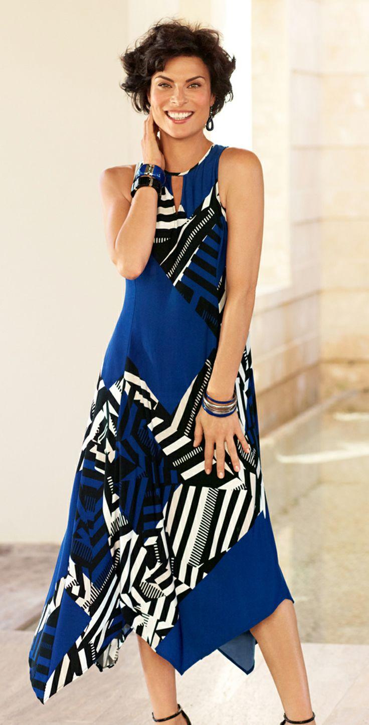 Dress to Impress: Gabby Mixed Graphic Dress.  #DestinationFabulous #travel #spring #chicos