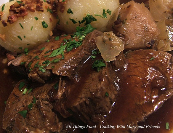 Cooking With Mary and Friends: German Sauerbraten Roast--made with 4lb. lean beef roast (preferable rump or eye of round)