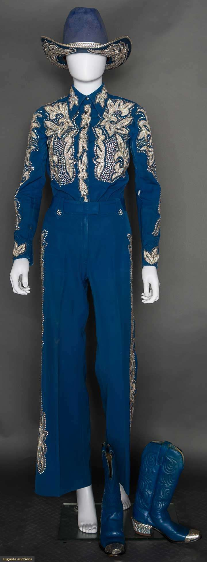 Nudie 4-piece Lady's Blue Rodeo Outfit, 1970s, Augusta Auctions, April 8, 2015 NYC