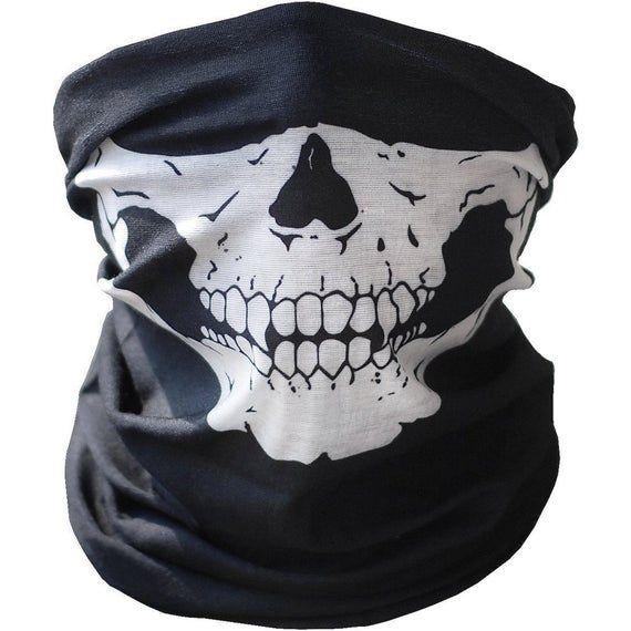 Skull Face Mask Bandana Free Shipping Usa Protection Skeleton Etsy In 2021 Skull Face Mask Skull Face Skull Mask